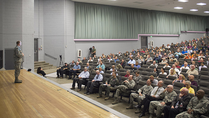 Commander talks past, present, future at civilian call