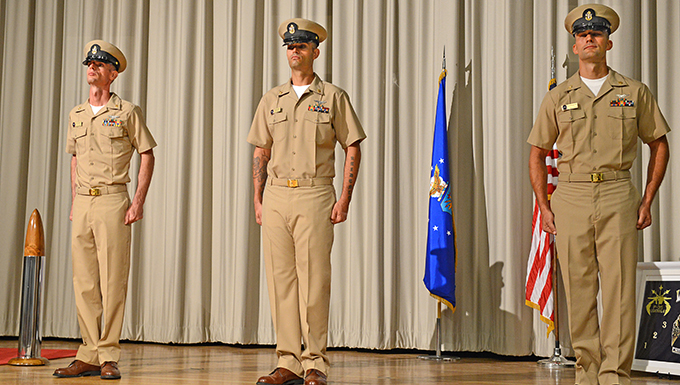 New chief petty officers at VX-9