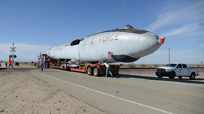Experimental bomber returns home after six decades
