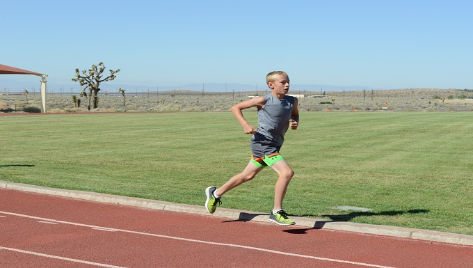 Young runner goes for gold at Junior Olympics